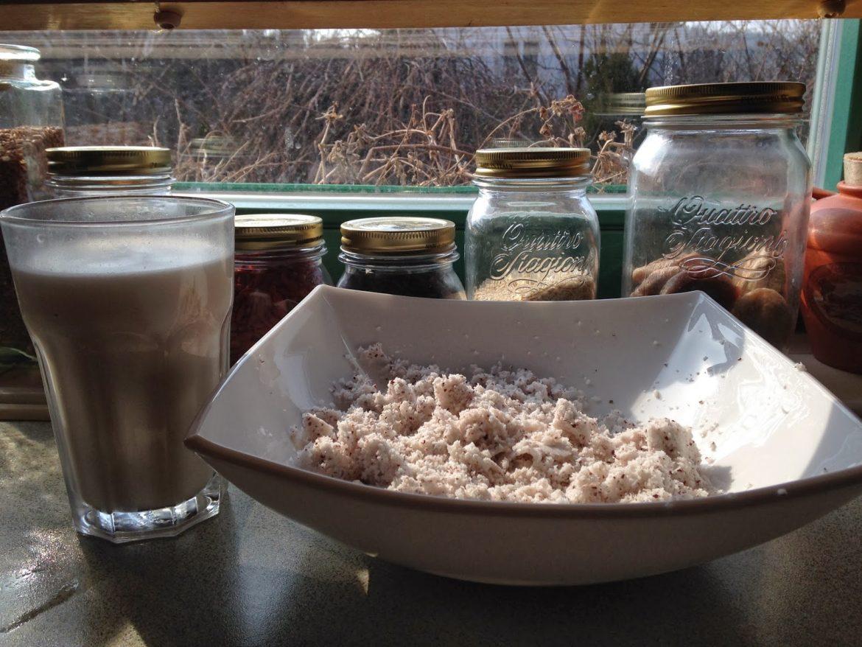 Domowe mleko kokosowe i wiórki kokosowe