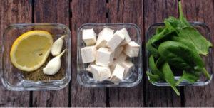 Zielony Dip z Tofu i Szpinaku