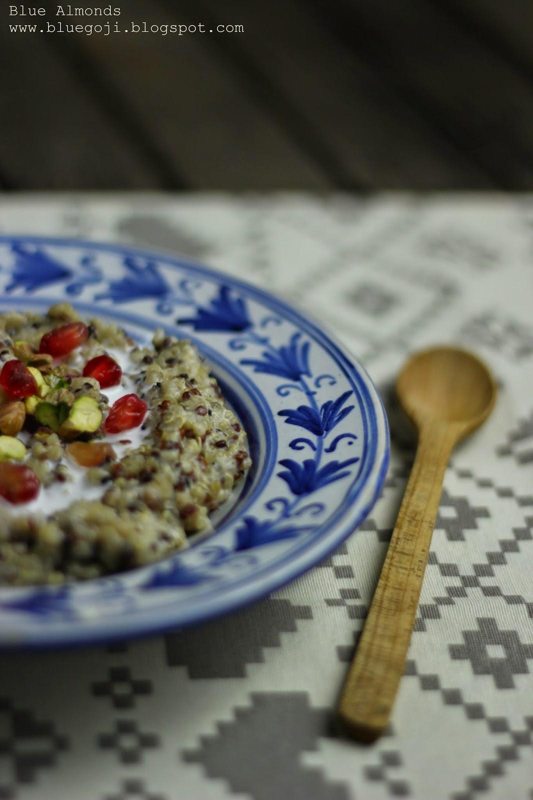 Owsianka Quinoa z Pistacjami i Granatem Pomegranate Pistachio Quinoa Poridge (vegan)