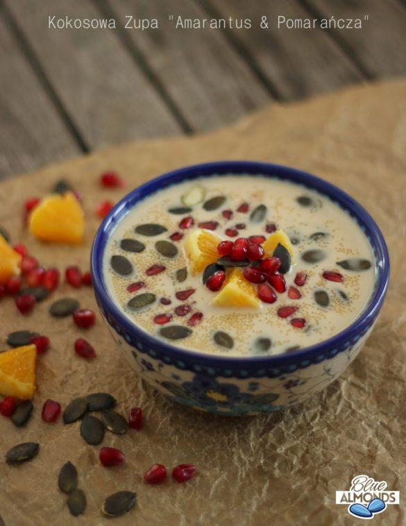 Kokosowa Zupa Amarantus & Pomarańcza Orange & Amaranth Porridge (vegan)