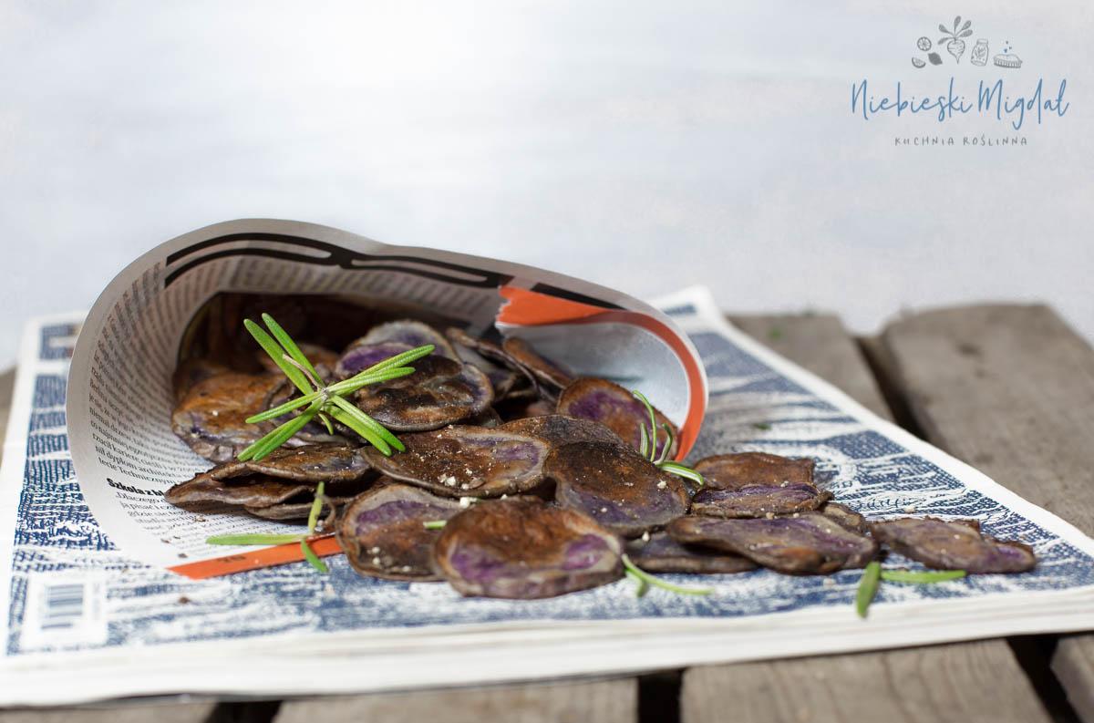 Wegańsie Chipsy z Fioletowych Ziemniaków